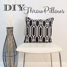 It's easy to redecorate with throw pillows. Follow my DIY Throw Pillows patterns and change any room in your house in less than an hour. - The Seasoned Homemaker