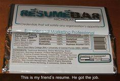 Needless to say... he got the job.