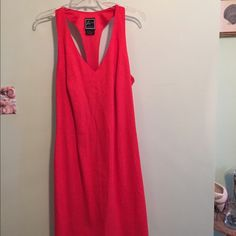 "NWOT, Orange Dress by Lennie NY This beautiful orange dress is made of 55% Linen and 45% Rayon. This dress is a size 14. It also has a side zipper and it's length from the shoulder is 38"" long. Width from side to side is 28"". The back has a Y cut out and at the bottom has a cute bow. NWOT! Lennie NY Dresses Backless"