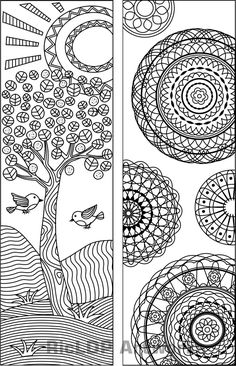 x 11 coloring pages book Coloring Book Pages, Coloring Pages For Kids, Coloring Sheets, Diy Bookmarks, Crochet Bookmarks, Book Markers, Art Graphique, Zentangle Patterns, Book Making