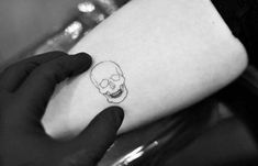New Tattoo Small Simple Neck Ink Ideas In 2020 Small Skull Tattoo Simple Skull Wrist Tattoos For Guys