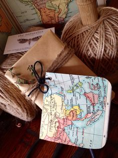 LOVE this. Vintage map gift tags 5pack on Etsy, $8.00 AUD