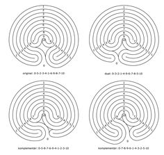 A 9-circuit labyrinth in four variations