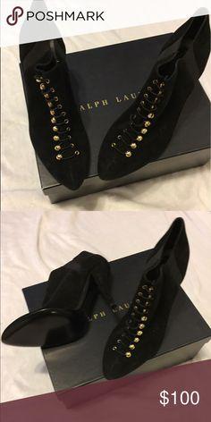 Ralph Lauren heels Black suede brand new heels Ralph Lauren collection euro sizing Ralph Lauren Shoes Ankle Boots & Booties