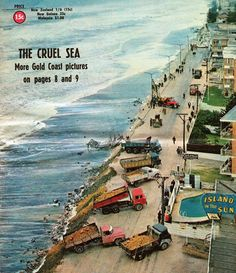 Surfers Paradise in the wake of Cyclone Dinah. Truncated cover of The Australian Women's Weekly from July, 1967