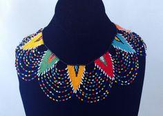 Collier en perles zoulou par HouseofYimama sur Etsy