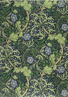 Seaweed wallpaper design, designed by William Morris (1834-96 ), printed by John Henry Dearle ( 1860-1 )