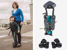 Mãe cria exoesqueleto para filho com paralisia poder andar