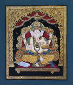 Tanjore Ganesh Paint