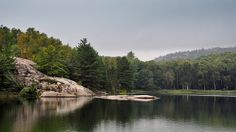 Killarney Provincial Park in Ontario - George Lake on a still summer day