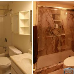 Before and After what a huge differance! #mobilemarble #bathroomremodel #dreambathroom #trustone #bathroomideas #bathroom#mobile#follow4follow #followme #follow4follow #teamfollowback #teamfollow by mobilemarblecompany Bathroom designs.