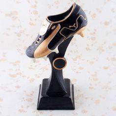 Leopard Black Soccer Boot Trophy
