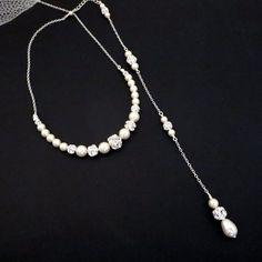 Nuevo Pearl drop collar collar de escenario nupcial joyería