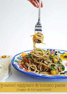 ohdeardrea: An Easy & Delicious Roasted Eggplant Pasta Dish (Vegan & Kid Friendly)