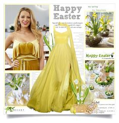 """""""Happy Easter!!"""" by lilly-2711 ❤ liked on Polyvore featuring Christian Siriano, Charlotte Olympia and Aquazzura"""