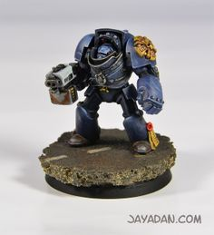 2 40K Space Marine Iron Hands Finecast front corps//torse/'