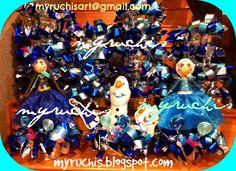Fiesta Frozen, Ideas fiesta, Fiesta infantil, Fiesta Princesas, centros de mesa Frozen, decoración Fiesta Infantil myruchis.blogspot.com