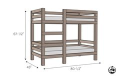 What kid doesn't love a bunk bed? If you're crafty, you can build your own at home! Check out some of our favorite bunk bed plans for your kiddos! Toddler Bunk Beds, Safe Bunk Beds, Adult Bunk Beds, Cool Bunk Beds, Kid Beds, Cheap Bunk Beds, Full Size Bunk Beds, Custom Bunk Beds, Modern Bunk Beds
