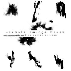 Simple Smudge - Download  Photoshop brush http://www.123freebrushes.com/simple-smudge/ , Published in #GrungeSplatter. More Free Grunge & Splatter Brushes, http://www.123freebrushes.com/free-brushes/grunge-splatter/ | #123freebrushes