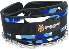 DMoose Fitness Dip Belt (Blue Camo)