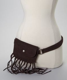 I Love Accessories Brown Fringe Waist Pouch by I Love Accessories #zulily #zulilyfinds