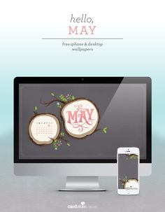 Download your free May 2015 calendar, and stop back on the first of every month to get your new, free desktop background and iPhone wallpaper.
