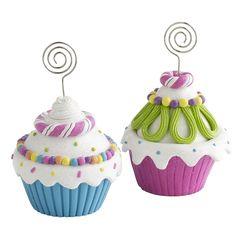Cupcake Photo Holders