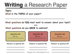 Sample of an outline for a research paper (5th grade) | little ...