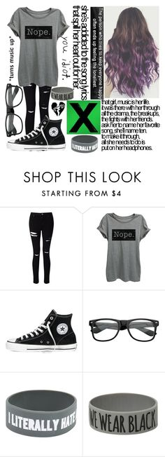 """I am i love with Ed Sheeran songs..."" by rendringz ❤ liked on Polyvore featuring Miss Selfridge, Converse and Coven"