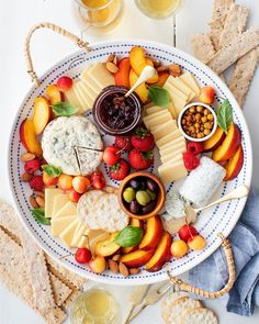 """Jeanine Donofrio / Love&Lemons on Instagram: """"Can a snack board count as dinner? Umm…yes, please! Lately, we've been celebrating summer by sharing bountiful cheese boards like this one…"""" Juicy Fruit, Fresh Fruit, Best Tuna Salad Recipe, Foil Packet Dinners, Toasted Almonds, Cheese Platters, Appetizers For Party, Party Snacks, Appetizer Recipes"""