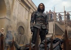The Musketeers series 3x10. D'Artagnan defeats Marchaux, who falls on a wooden rake. BBC