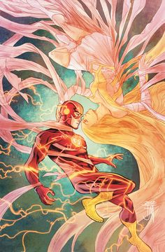 """speedforceorg: """" Flash cover by Francis Manapul, featuring the Flash and (formerly Golden) Glider. More info: Flash & Annual solicitations. Kid Flash, Flash Art, Comic Book Artists, Comic Artist, Comic Books Art, Flash Barry Allen, Flash Comics, Dc Comics Art, New 52"""