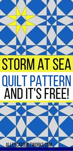 Making a Storm at Sea quilt has never been easier! No paper piecing!  Turn your creativity loose.