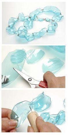 en-rHed-ando: Como hacer Manualidades con una Botella de Plastico Tutoriales.  DIY Recycling plastic bottler