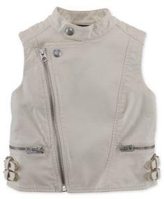 Ralph Lauren Little Girls' Vegan Leather Vest