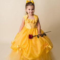 Belle Dress- Princess Belle Tutu Dress- Belle Costume- Beauty and the Beast Blush Tulle Skirt, Blush Flower Girl Dresses, Princess Flower Girl Dresses, Blush Dresses, Baby Girl Dresses, Swatch, Pose, Belle Costume, Yellow Gown