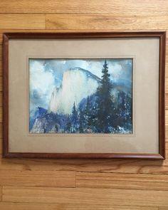 Vintage Western Art Yosemite Half Dome 1925 original watercolor by TARAMBERIC on Etsy