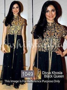 $99 Designer Formal  Partywear Ethnic Indian Wedding Bollywood Long Flair Dress
