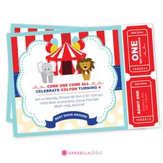 Circus Invitation Circus birthday Party Circus by GardellaGlobal, $6.00