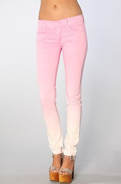 Cheap Monday Women's The Narrow Lo-Waist Skinny Jean in Faded Pink, Denim