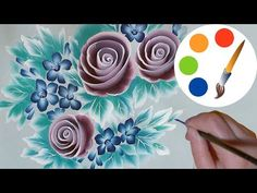 How to paint the spiral roses, One Stroke, irishkalia - YouTube