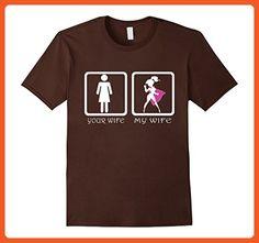 Mens Mens Your Wife vs My Superhero Wife T-Shirt XL Brown - Superheroes shirts (*Partner-Link)