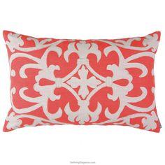 Coral/White Linen