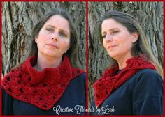 Step out in style with light and lacy cowl that will keep you warm and trendy this Fall.