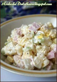 Tę sałatkę miałam okazję robić dwukrotnie - raz dodałam wędzonego sera (jak podaje przepis) , a drugi raz ostrego cheddara. Za pierwszym ra... Polish Recipes, Cheddar, Potato Salad, Food And Drink, Potatoes, Ethnic Recipes, Food Heaven, Polish, Salads