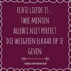 Echte liefde is.. #tegeltjeswijsheid #quote #liefde