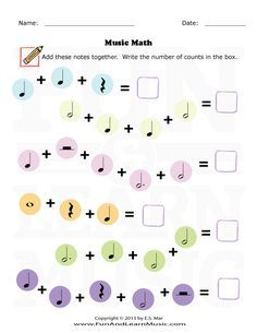 Music and Math Music Activities For Kids, Music For Kids, Music School, Music Class, Music Math, Music Theory Worksheets, Museum Education, Math Writing, Piano Teaching