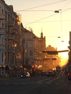 Sunrise at Majorstuen, Oslo