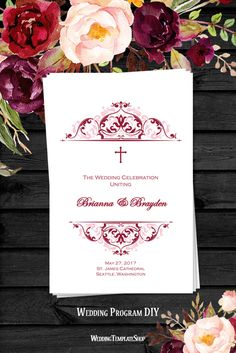 Wedding Ceremony Program Invitations Archives  The Wedding