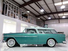 1955 Chevrolet, Chevrolet Bel Air, Hot Rod Trucks, Cool Trucks, Chevy Nomad, Car Colors, Station Wagon, Dodge, Dream Cars